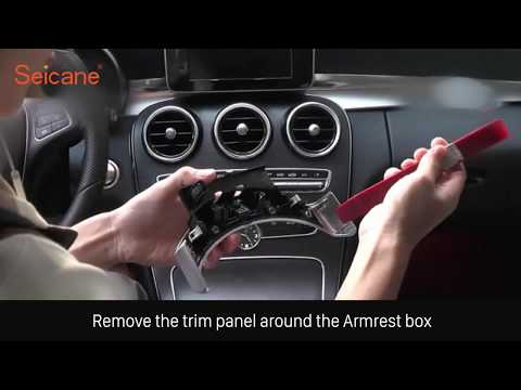 How to install and upgrade your factory radio for 2015 Mercedes Benz C Class C200 Removal