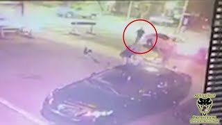 Canadian Officer Fights Off Man Who Ran Him Over | Active Self Protection