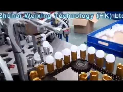 China LED Bulb Light Factory Automatic Production Line, Make LED Light Bulbs Automatically