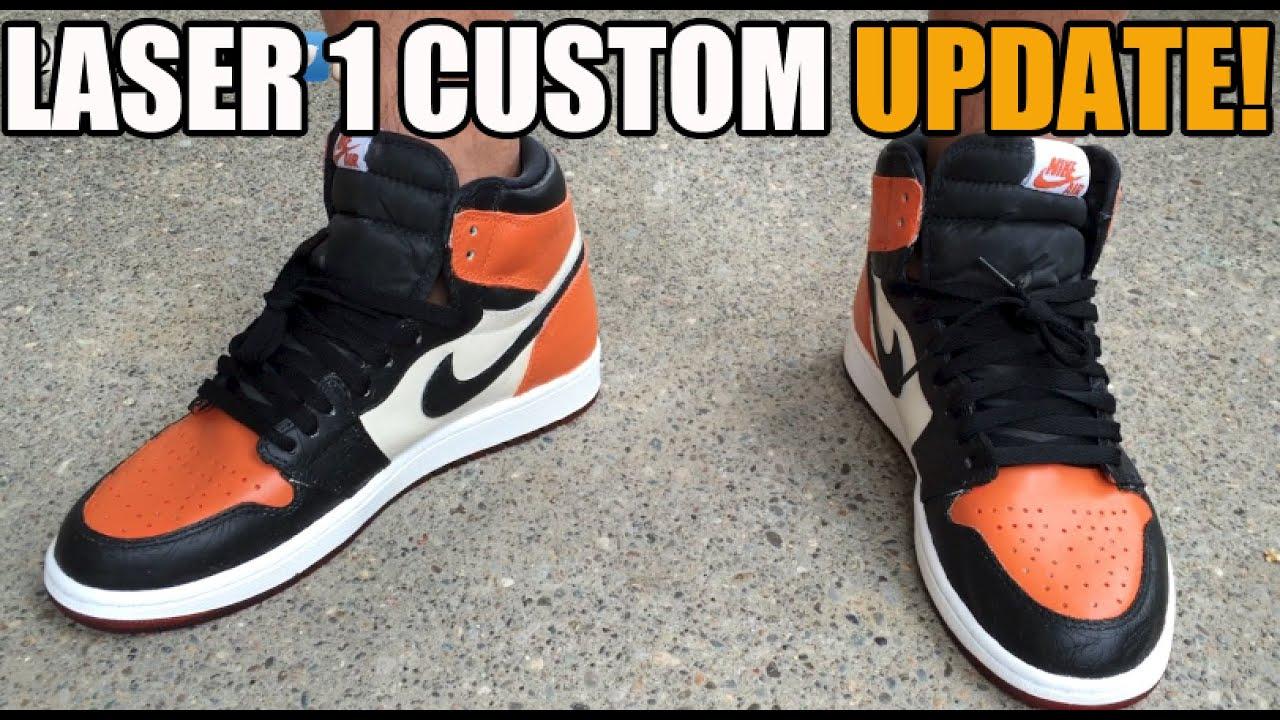 06faa0cbbfb Update: Air Jordan 1 Laser 'Shattered Backboard' Custom Color Match, New  Tips