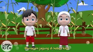 MENANAM JAGUNG | 3D | Lagu Anak Indonesia
