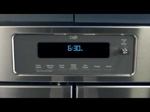 ge caf french door wall oven electronic dial controls
