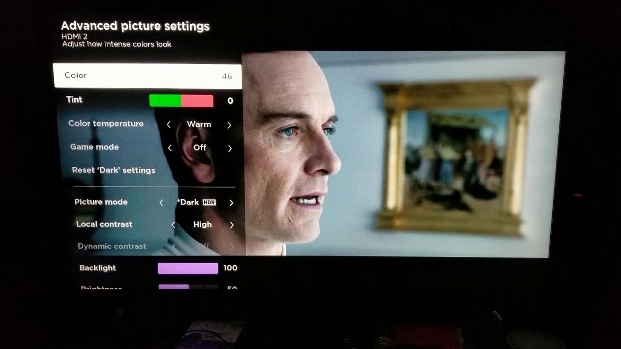 Alien Covenant: 4K UHD Blu-Ray Custom Calibration on TCL Roku TV 55p605