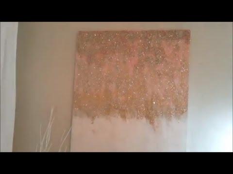 Z Gallerie Inspired Glitter Art DIY