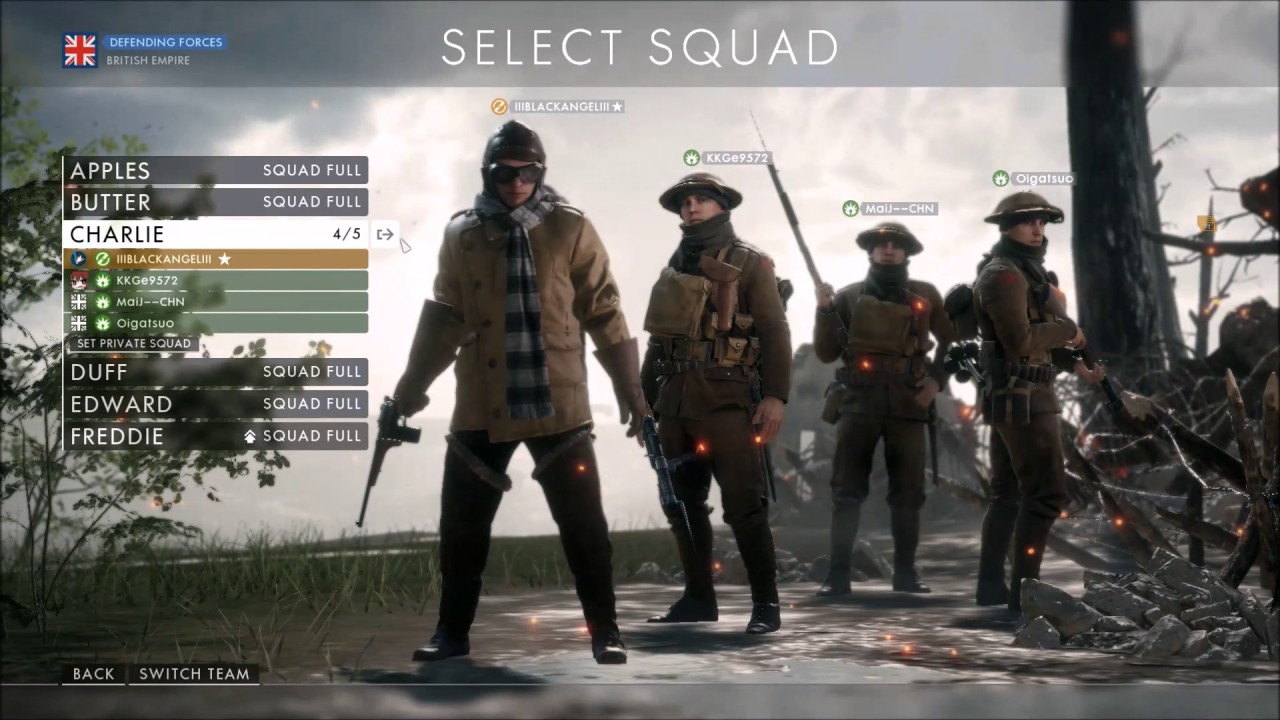 Operations matchmaking bf1