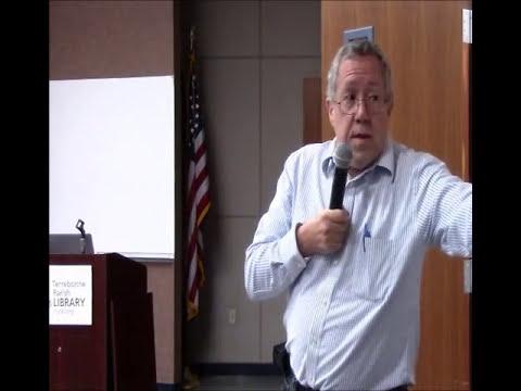Neal Bertrand speaks at Terrebonne Parish Library in Houma,LA April 2016