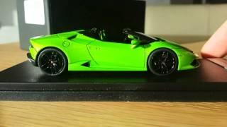 Unboxing Lamborghini Huracan Spyder 1:43