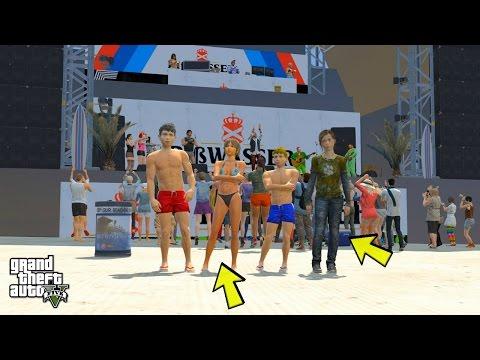 GTA 5 REAL LIFE TEEN MOD #43 BEACH ADVENTURES!