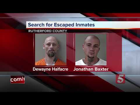 2 Inmates Overpower Officer, Escape Rutherford County Jail