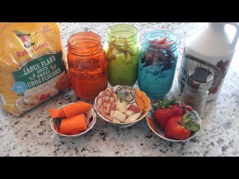 Overnight oatmeal 3 ways with Greek Yogurt