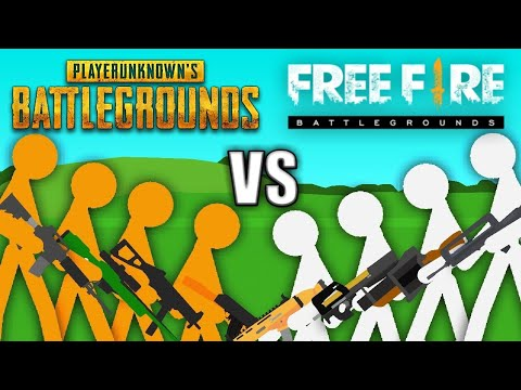 PUBG vs Free Fire - Stickman Animation
