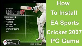 ea cricket 2007 game download for pc