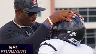 Deion Sanders, MJD, & Nate Burleson Coach Youth Football Teams