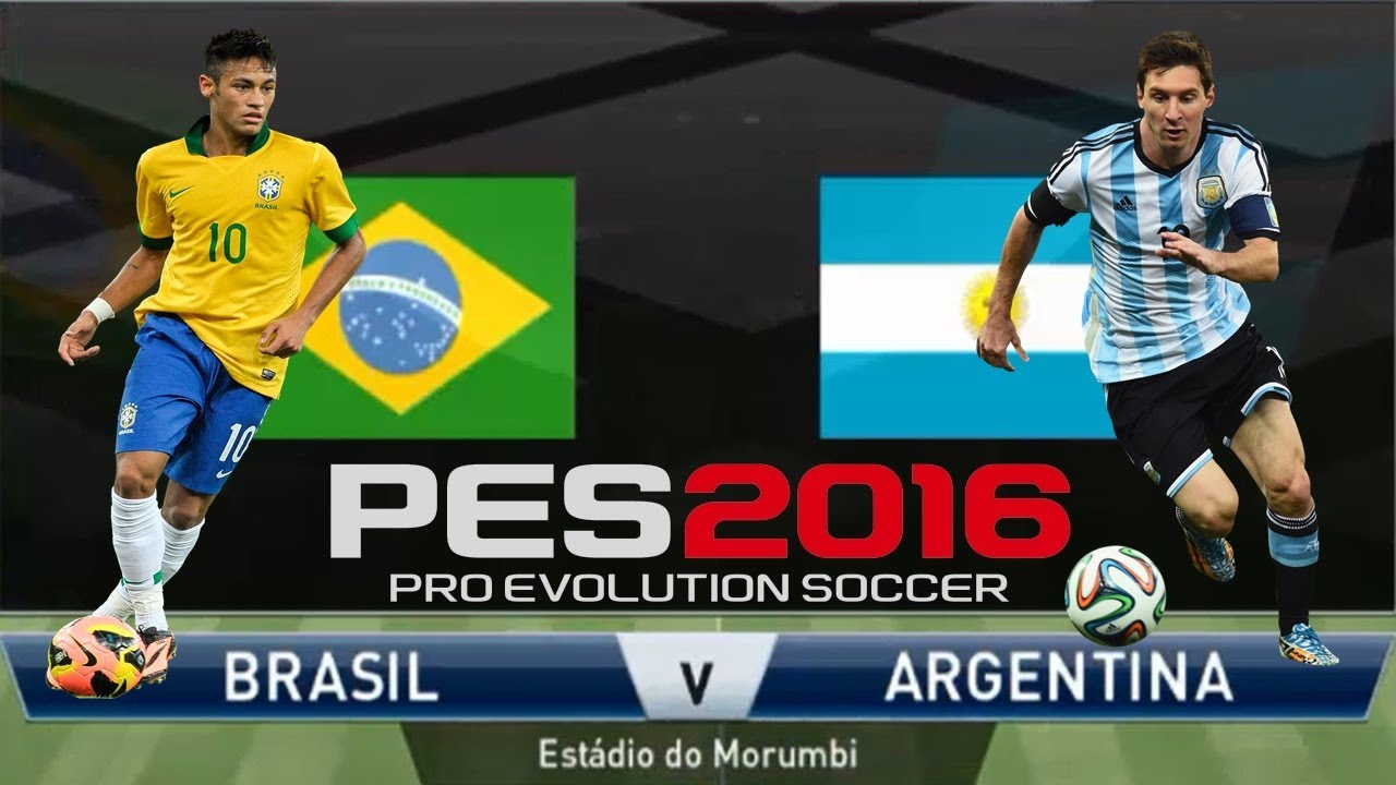 Argentina Vs Brasil: PES 2016 BRASIL VS ARGENTINA!!