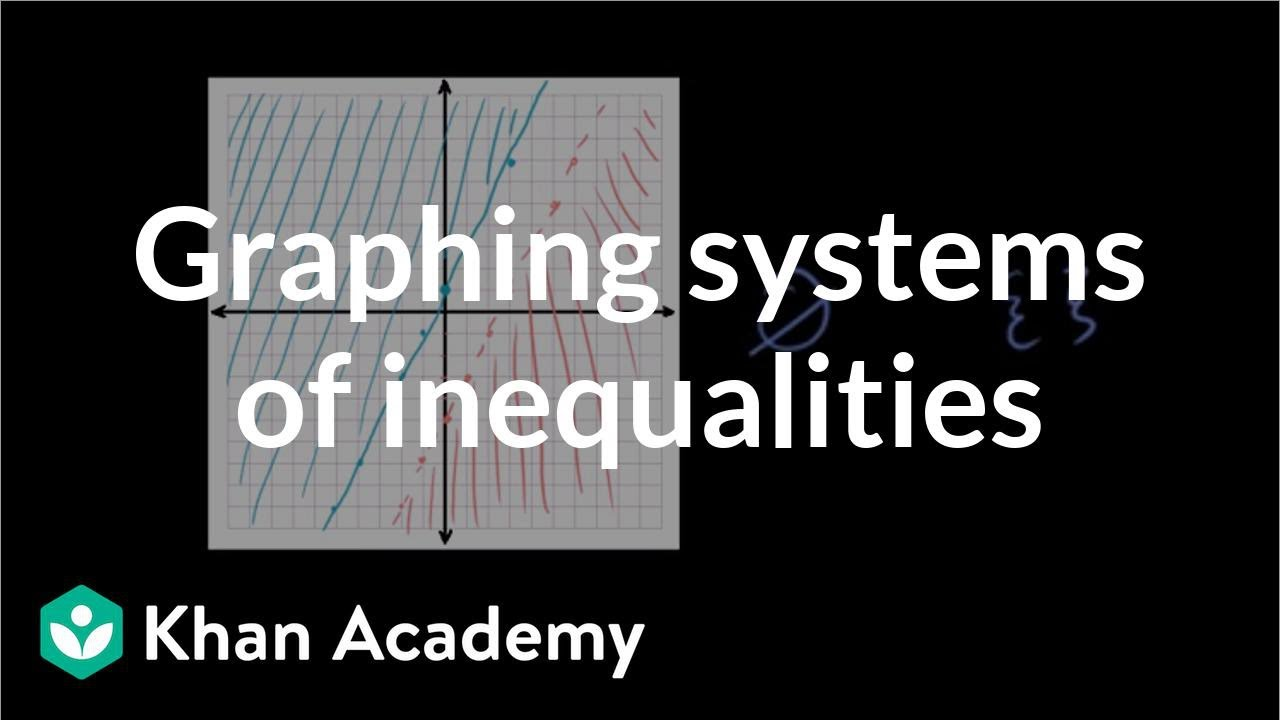 Graphing systems of inequalities (video) | Khan Academy