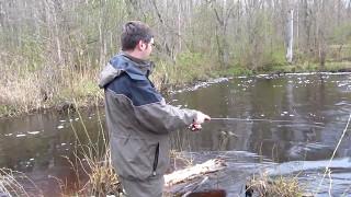 Рыбалка на реке Лютая.