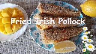 РЫБА Жареная сайда Fried  rish Pollock