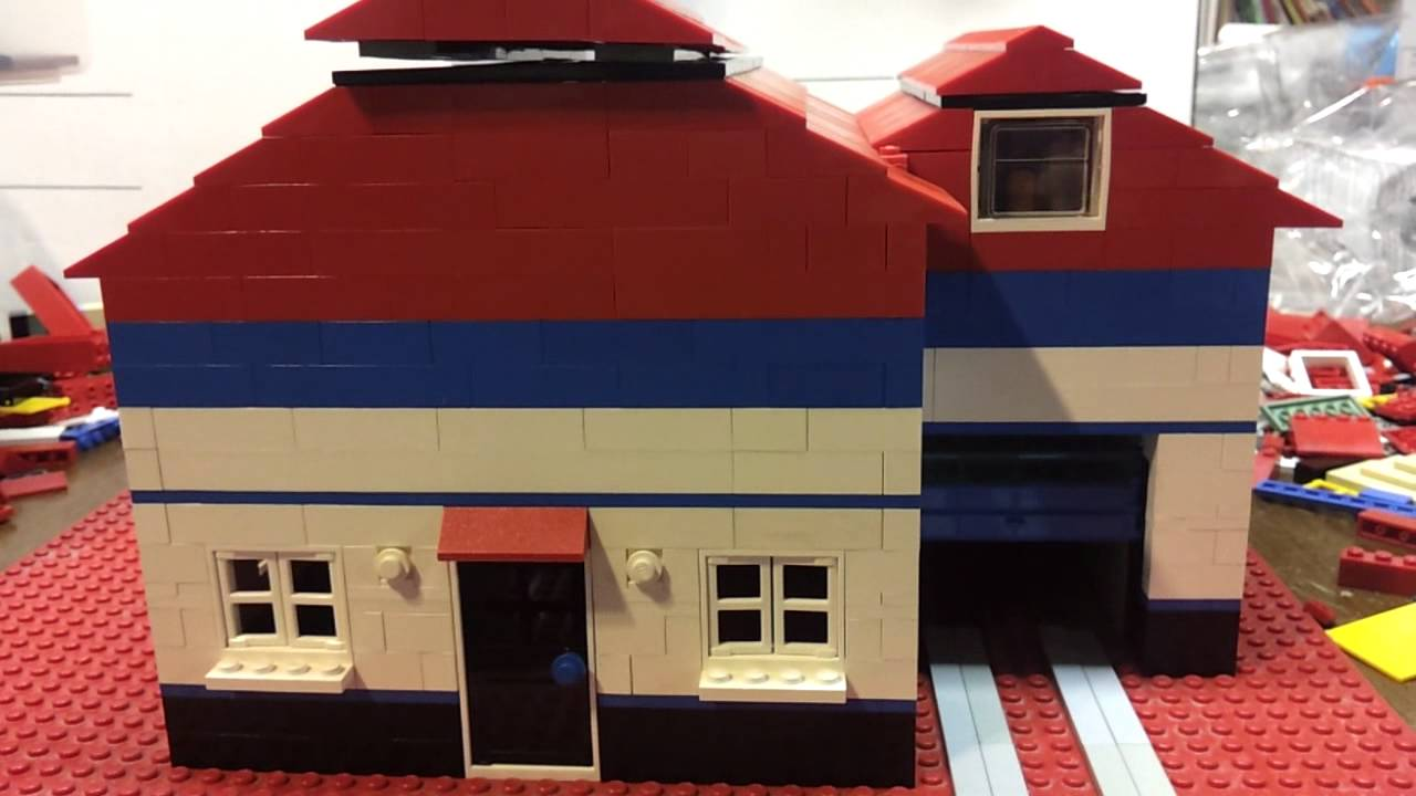 The Lego House With Automatic Garage Door Opener Youtube