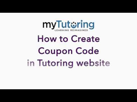 how to create coupon code in online tutoring website youtube