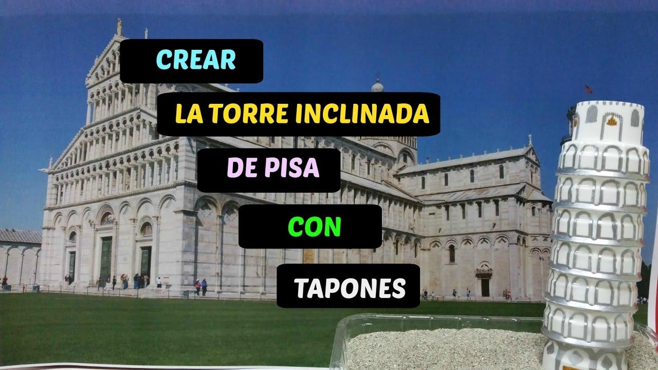 foto de Crear la Torre Inclinada de Pisa con Tapones Para Niños