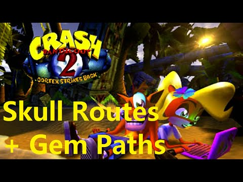 Crash Bandicoot 2: ALL Skull Routes + Gem Paths