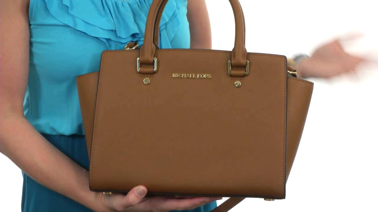 3902a19f4f MICHAEL Michael Kors Selma Medium Tz Satchel SKU  8382250 - YouTube