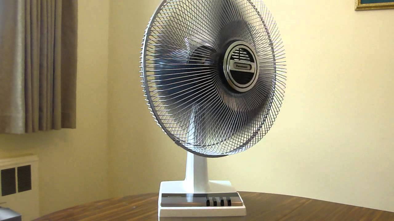 Panasonic Table Fan : Mid s panasonic f desk fan youtube