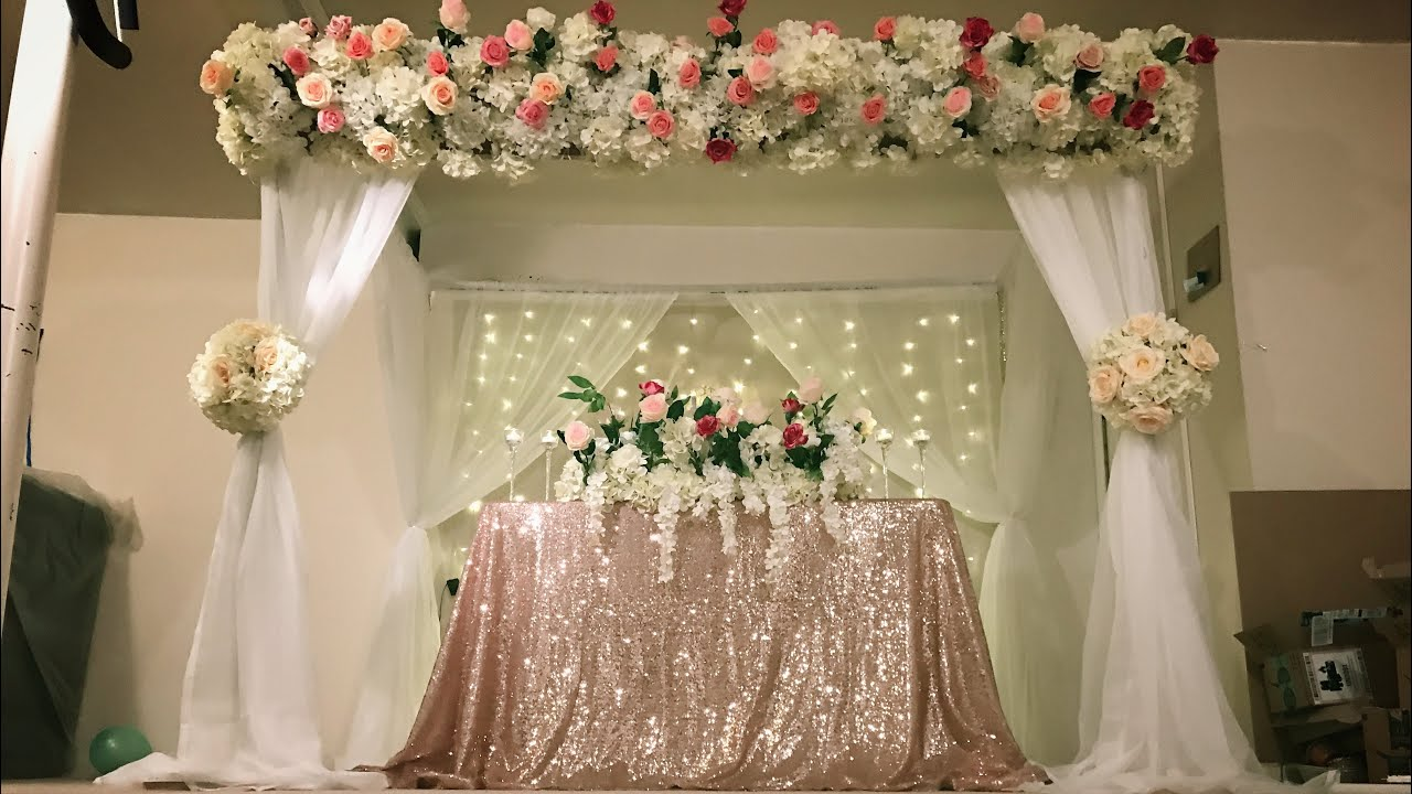 Diy Canopy And Stage Backdrop Decor Diy Floral Decor Diy Wedding Decor Diy Pvc Pipe Canopy Decor