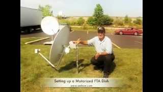 How to set up an HH (dorizon to horizon) DiSEqC Motor on a satellite antenna dish.