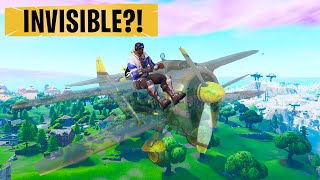 Flying an INVISIBLE PLANE in Creative - Season 9 Bugs Fortnite
