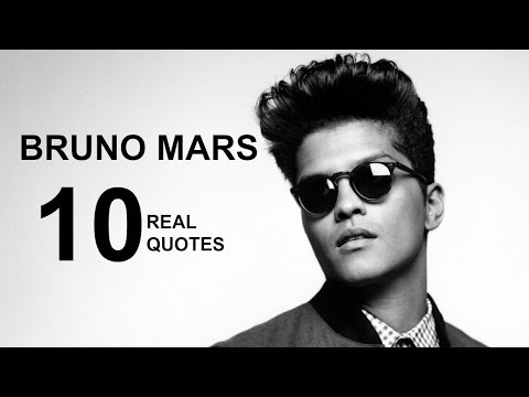 Bruno Mars Quotes Stunning Bruno Mars 48 Real Life Quotes On Success Inspiring Motivational