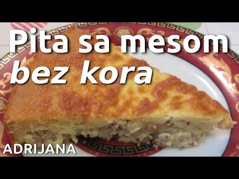 Pita sa mesom bez kora, brza pita na Američki način - American Pie