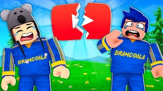ADEUS YOUTUBE! TENTAMOS FUGIR DO YOUTUBE NO ROBLOX ESCAPE - Brancoala Games