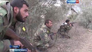 250-килограммовая авиабомба превратила в бетонную пыль штаб боевиков в Сирии