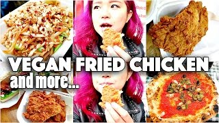 VEGAN FRIED CHICKEN!!! (What I Ate & Did in LONDON)