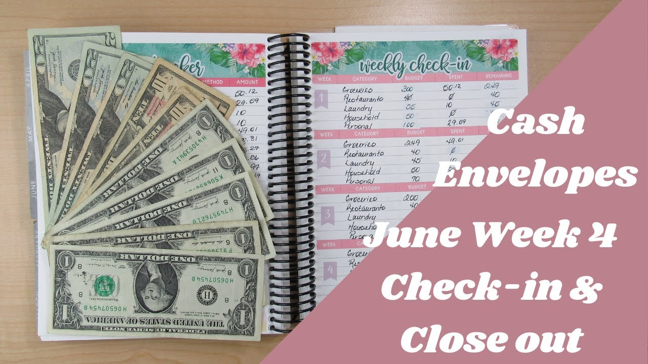 Budget with Me| June 2020-Cash Envelopes Week 4 Check-in & Close out| Debt: $58,025.56