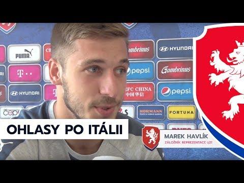 Marek Havlík a Tomáš Souček po zápase s Itálií