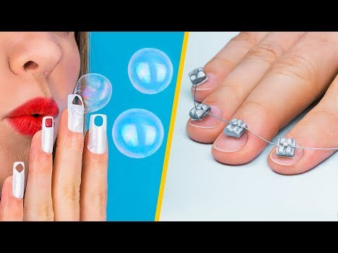 10 странных лайфхаков и идей / Лайфхаки для ногтей