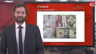 Bourse - EUR/USD, retournement de tendance - IG 18.08.2016