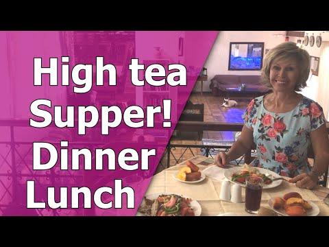 Приёмы пищи по-английски: Breakfast, Lunch, Dinner & Supper. High Tea
