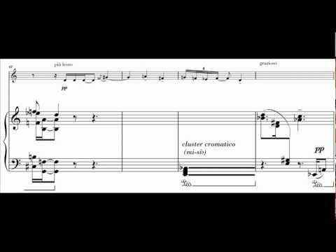 """CARLO MOSSO : Momento Musicale """"Il ventaglio"""" per clarinetto e pianoforte (1986)"""