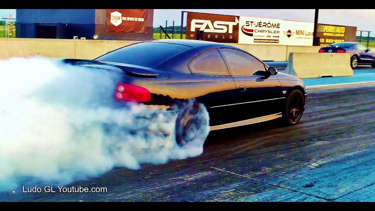 1 4 Mile Drag Race Pontiac Gto Vs Mustang