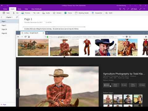 Making a Choose Your Own Adventure in OneNote