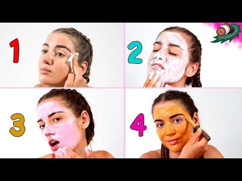 Тоник, скраб, крем, маска для лица из молока. Глубокое очищение кожи лица в 4 этапа 🌴 POLI NA PALME