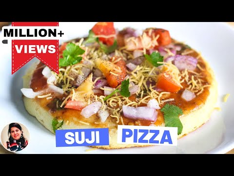 Indian Style Suji Pizza Recipe-Easy Pizza Recipes In Hindi-Breakfast Recipes - Snacks Recipes-Ep-182 без регистрации и смс