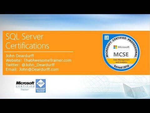 microsoft sql server certifications 2017 -