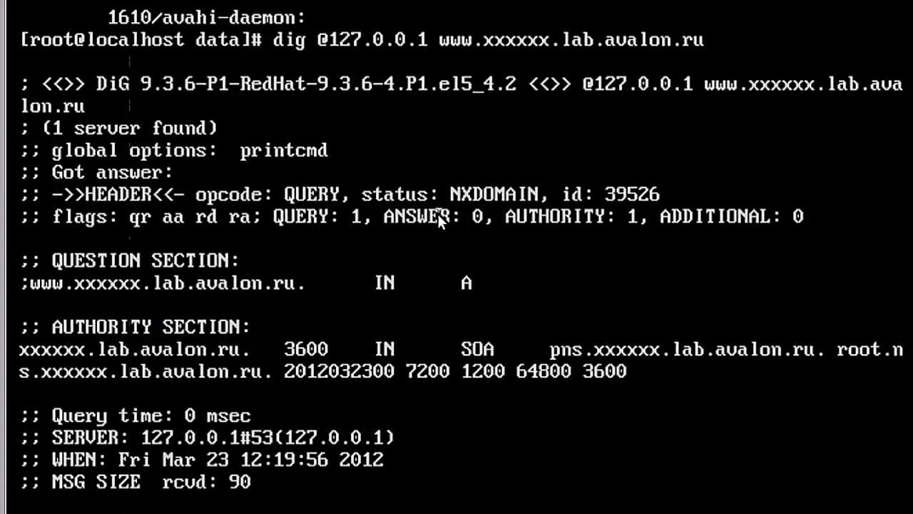 DNS.2.2 Ресурсные записи зоны первичного DNS-сервера