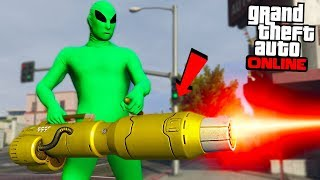"INSANE LASER MINI GUN ""DLC UPDATE!"" - GTA Online"