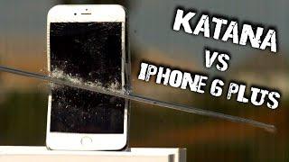 iPhone 6 Plus vs Katana @ 6,900FPS Slow Motion - GizmoSlip