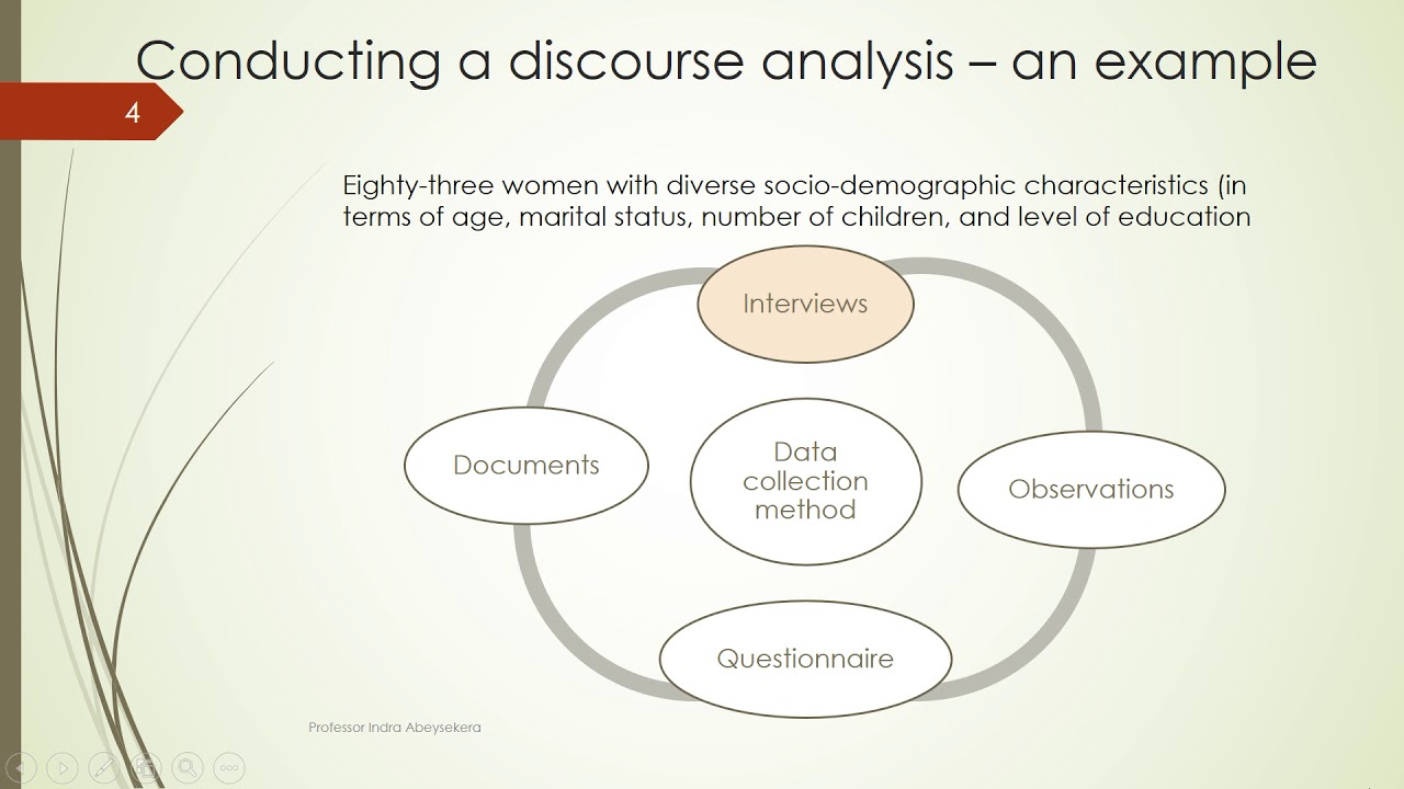 Conducting a discourse analysis an example